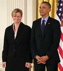 Cherry Murray and President Obama photo
