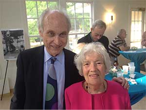 Michael Turner with Vera Rubin photo